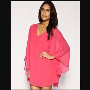 ASOS Hot Pink Caftan Cape Dress Size S